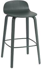 Visu Bar stool - / Wood - H 65 cm by Muuto Green