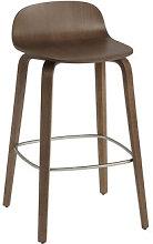 Visu Bar stool - / Wood - H 65 cm by Muuto Natural