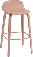 Visu Bar stool - / Wood - H 65 cm by Muuto Pink