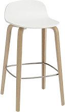 Visu Bar stool - / Wood - H 65 cm by Muuto