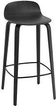 Visu Bar stool - / Wood - H 75 cm by Muuto Black