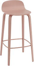 Visu Bar stool - / Wood - H 75 cm by Muuto Pink