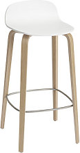 Visu Bar stool - / Wood - H 75 cm by Muuto