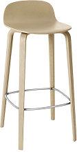 Visu Bar stool - Wood - H 75cm by Muuto Oak