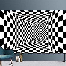 Visual Vortex Rectangular Carpet Nordic Checkered