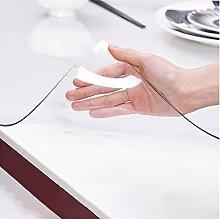 VISZC 3mm Thick Plastic Clear Desk Pad, PVC Table