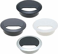 Vital Parts 5 Pack Silver/Black Desk Cable Tidies,