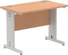 Vitali Deluxe Narrow Rectangular Desk (Silver