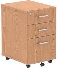 Vitali Tall Under Desk Mobile Pedestal, Oak