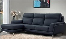 Vitalia Corner Left Handed Leather Sofa Bed In