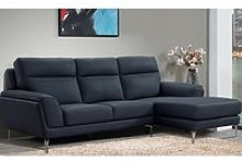 Vitalia Corner Right Handed Leather Sofa Bed In