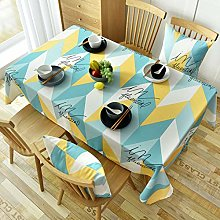 VITALITY Plastic Rectangular Tablecloth Cover For