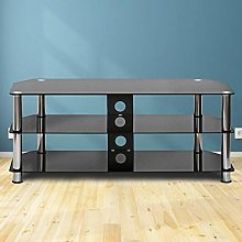 Vitoki Corner TV Stand Cabinet With Tempered Glass