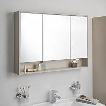Vitra Integra Triple Door Gritstone LED Mirror