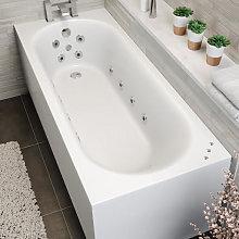 Vitura Single Ended Curved Whirlpool Bath - LED
