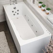 Vitura Single Ended Square Whirlpool Bath - LED