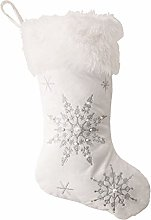 Viudecce Snowflakes Christmas Stockings Pearl