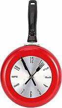Viudecce Wall Clock Metal Frying Pan Design 8 Inch