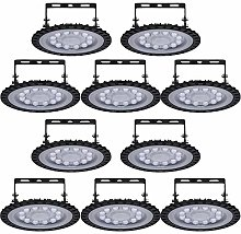 Viugreum 10 Pack 50W UFO LED High Bay Light,