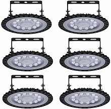 Viugreum 6 Pack 50W UFO LED High Bay Light, 5000LM