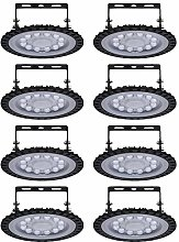 Viugreum 8 Pack 50W UFO LED High Bay Light, 5000LM