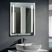Viugreum LED Lighting Bathroom Mirror, 50X70cm RGB