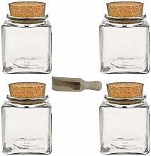 Viva housewares spice jar made of glass with cork