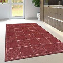 Viva Rugs Non Slip Rug Kitchen Living Room Red