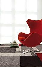VIVA Tappeti Rug, Grigio, Rosso, 160x230x3.68 cm