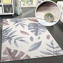 VivaRugs Cream Area Rug Bedroom Living Room Pink