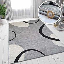 VivaRugs Modern Design Abstract Rug Grey Ivory