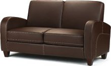 Vivo Brown Faux Leather 2 Seater Sofa