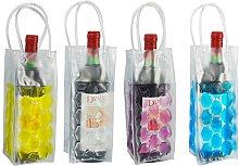 Vivo© Clear Wine Bottle Cooler Chiller Bag Gel