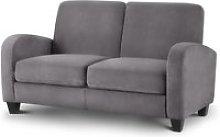 Vivo Grey Fabric 2 Seater Sofa