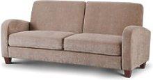 Vivo Mink Fabric 3 Seater Sofa