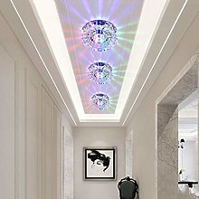 VIWIV Modern LED crystal ceiling light Round aisle
