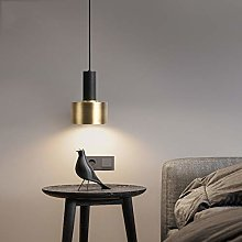VIWIV Pendant light Bedside round brass chandelier