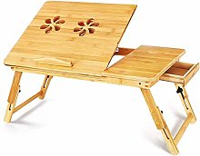 VIWIV Small folding table Lap Desk, Bamboo Laptop