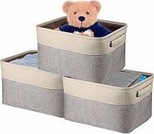 Viwril Fabric Storage Box, Canvas Storage Box (3