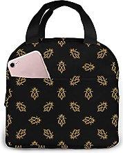 VJSDIUD Bee Dark Pattern in Thin Line Lunch Bag