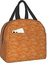 VJSDIUD Reusable Cooler Lunch Bag Orange