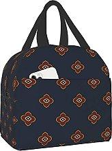 VJSDIUD Reusable Cooler Lunch Bag Oriental Floral