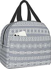 VJSDIUD Reusable Cooler Lunch Bag Set White