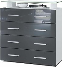 Vladon Chest of Drawers Cabinet Pavos V2, Carcass