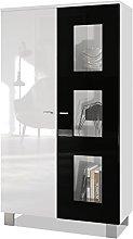 Vladon Tall Display Cabinet Cupboard Denjo,