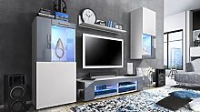 Vladon Wall Unit TV Stand Cabinet Movie, Carcass