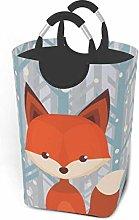 VLKFK 50L Laundry Basket Forest Orange Fox Laundry