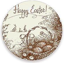 Vnurnrn Vintage Easter Bunny Egg Rabbit Coaster