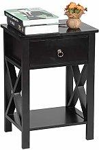 Vobajf Nightstand 2-Layer Bedside Cabinet