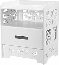 Vobajf Nightstand Nordic White Bedside Table
